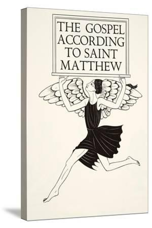 Angel of St. Matthew, 1931-Eric Gill-Stretched Canvas Print