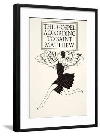 Angel of St. Matthew, 1931-Eric Gill-Framed Giclee Print