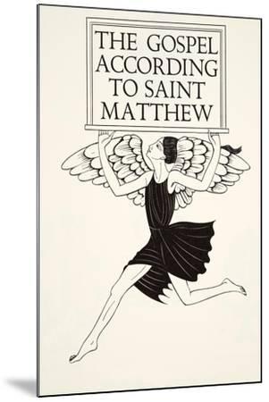 Angel of St. Matthew, 1931-Eric Gill-Mounted Giclee Print