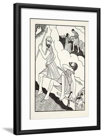 The Death of Troilus, 1927-Eric Gill-Framed Giclee Print