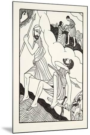 The Death of Troilus, 1927-Eric Gill-Mounted Giclee Print
