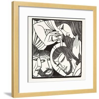 Mary Magdalene, 1926-Eric Gill-Framed Giclee Print