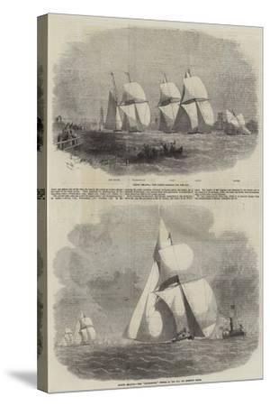 Boston Yacht Club Regatta-Edwin Weedon-Stretched Canvas Print