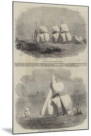 Boston Yacht Club Regatta-Edwin Weedon-Mounted Giclee Print