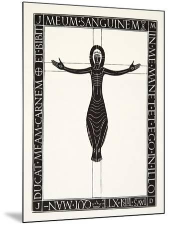 Crucifix, 1919-Eric Gill-Mounted Giclee Print