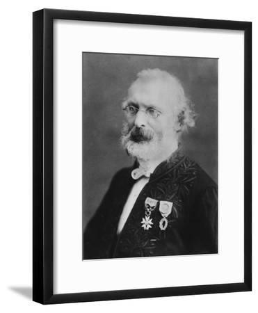 Portrait of Frédéric Passy-Eugene Pirou-Framed Photographic Print