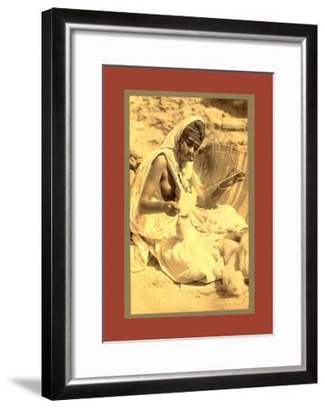 Types Algerians, Wool Spinner-Etienne & Louis Antonin Neurdein-Framed Giclee Print