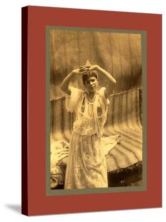 Tlemcen, Young Moorish Woman-Etienne & Louis Antonin Neurdein-Stretched Canvas Print