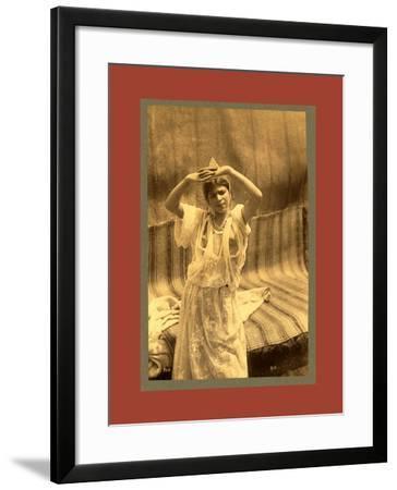 Tlemcen, Young Moorish Woman-Etienne & Louis Antonin Neurdein-Framed Giclee Print