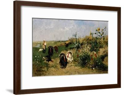 Turkeys, 1850-Eugenio Spreafico-Framed Giclee Print