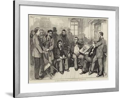 The American Presidential Election, a Sketch at Washington-Felix Regamey-Framed Giclee Print