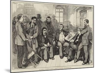 The American Presidential Election, a Sketch at Washington-Felix Regamey-Mounted Giclee Print