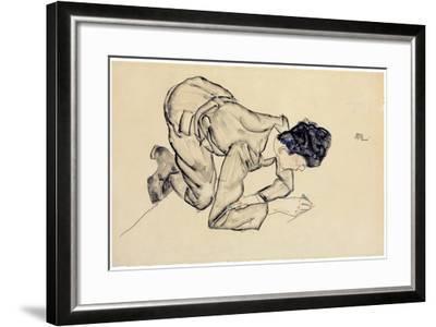 Erich Lederer Drawing on the Floor, 1912-Egon Schiele-Framed Giclee Print