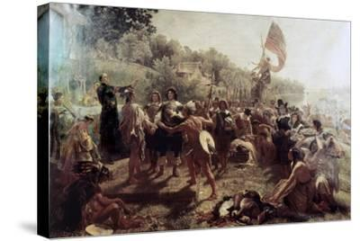 Founding of the Colony of Maryland-Emanuel Gottlieb Leutze-Stretched Canvas Print