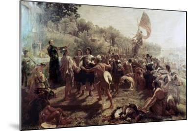 Founding of the Colony of Maryland-Emanuel Gottlieb Leutze-Mounted Giclee Print