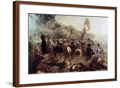 Founding of the Colony of Maryland-Emanuel Gottlieb Leutze-Framed Giclee Print