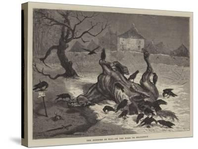 The Horrors of War, on the Road to Beaugency-Ernest Henry Griset-Stretched Canvas Print