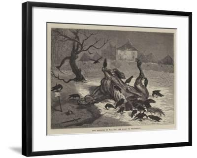 The Horrors of War, on the Road to Beaugency-Ernest Henry Griset-Framed Giclee Print