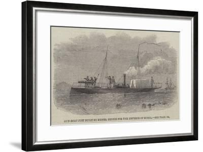 Gun-Boat Just Built by Messers Rennie for the Emperor of Russia-Edwin Weedon-Framed Giclee Print