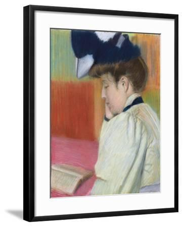 Woman Reading; Femme Lisant, C. 1890-Federigo Zandomeneghi-Framed Giclee Print