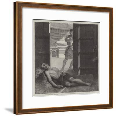 The International Exhibition, A Martyr in the Reign of Diocletian-Ernest Slingeneyer-Framed Giclee Print