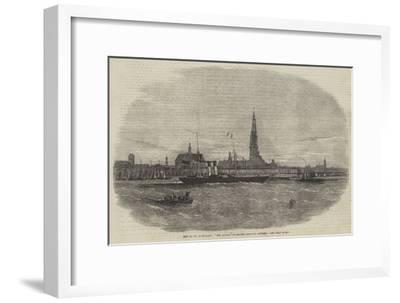 New Route to Belgium, The Aquila Steam-Ship Leaving Antwerp-Edwin Weedon-Framed Giclee Print