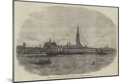 New Route to Belgium, The Aquila Steam-Ship Leaving Antwerp-Edwin Weedon-Mounted Giclee Print