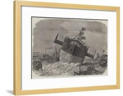 Launch of the Paramatta Steam-Ship at Blackwall on Monday Week-Edwin Weedon-Framed Giclee Print