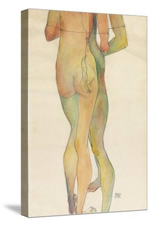 Zwei Stehende Akte, 1913-Egon Schiele-Stretched Canvas Print