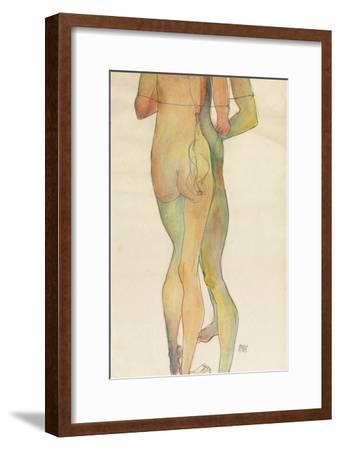 Zwei Stehende Akte, 1913-Egon Schiele-Framed Giclee Print