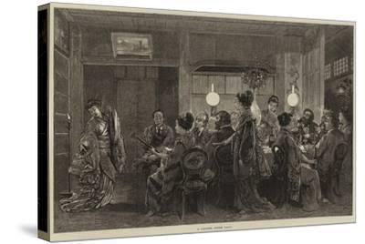 A Japanese Dinner Party-Felix Regamey-Stretched Canvas Print