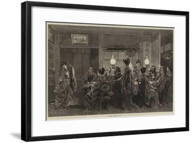 A Japanese Dinner Party-Felix Regamey-Framed Giclee Print