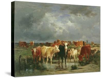 The Approach of a Storm-Emile van Marcke de Lummen-Stretched Canvas Print