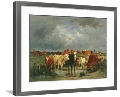 The Approach of a Storm-Emile van Marcke de Lummen-Framed Giclee Print