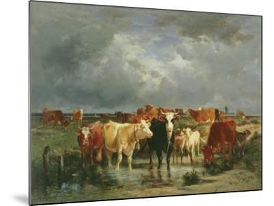 The Approach of a Storm-Emile van Marcke de Lummen-Mounted Giclee Print