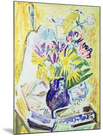 Flowers in a Vase, 1918-19-Ernst Ludwig Kirchner-Mounted Giclee Print
