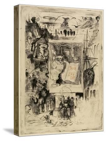Le Hibou (The Owl), 1883-Felix Hilaire Buhot-Stretched Canvas Print