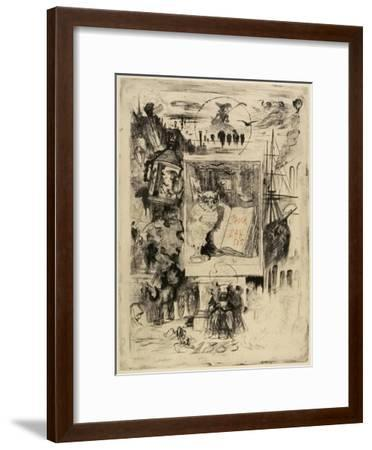Le Hibou (The Owl), 1883-Felix Hilaire Buhot-Framed Giclee Print