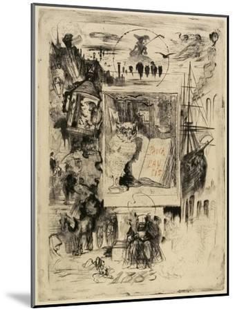Le Hibou (The Owl), 1883-Felix Hilaire Buhot-Mounted Giclee Print