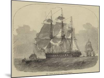 HMS Nankin, 50 Guns, Honourable Keith Stewart, Commander-Edwin Weedon-Mounted Giclee Print