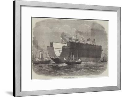 Launch of the Bermuda Floating Dock at North Woolwich-Edwin Weedon-Framed Giclee Print