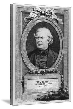 Portrait of Paul Lacroix-Eugène Gaujean-Stretched Canvas Print