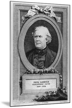 Portrait of Paul Lacroix-Eugène Gaujean-Mounted Giclee Print