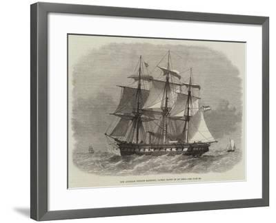 The Austrian Frigate Radetzky, Lately Blown Up at Lissa-Edwin Weedon-Framed Giclee Print