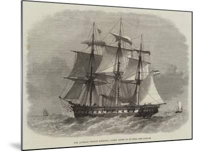 The Austrian Frigate Radetzky, Lately Blown Up at Lissa-Edwin Weedon-Mounted Giclee Print