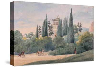 Horsemen in an Italian Landscape-Elisa Bonaparte-Stretched Canvas Print