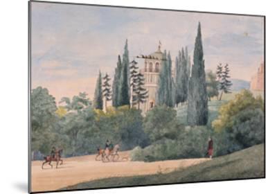 Horsemen in an Italian Landscape-Elisa Bonaparte-Mounted Giclee Print