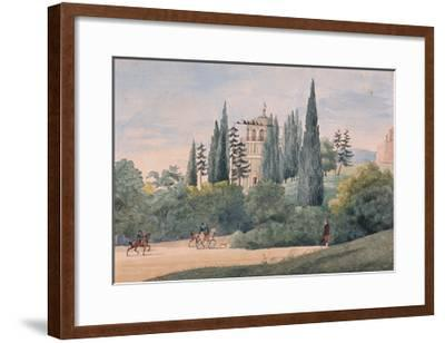 Horsemen in an Italian Landscape-Elisa Bonaparte-Framed Giclee Print