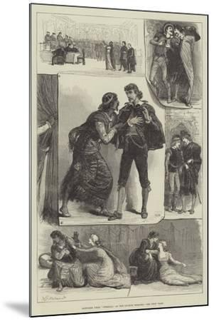 Sketches from Othello, at the Lyceum Theatre-Francis S. Walker-Mounted Giclee Print