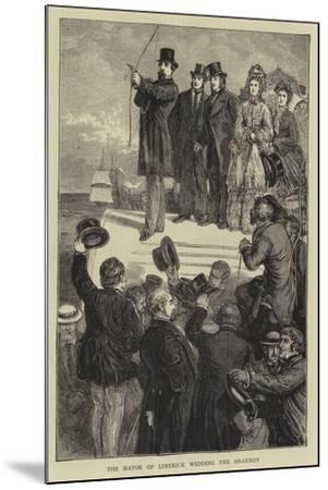 The Mayor of Limerick Wedding the Shannon-Francis S. Walker-Mounted Giclee Print